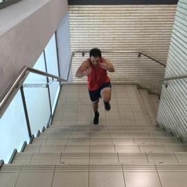 Saltos En Escalera A Una Pierna, paso 4